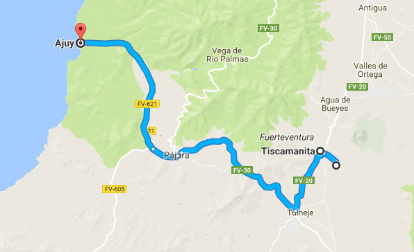Fuerteventura Special Tour Map Route